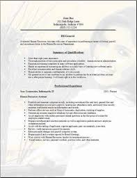 Hr Resume Templates Gorgeous Hr General Resume As Job Resume Examples General Resume Examples