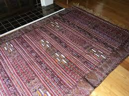 vintage moroccan hand woven bohemian wool area rug textile fiber art