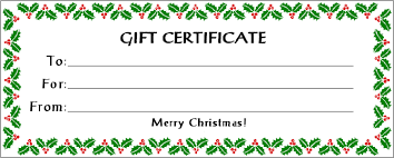 Holiday Gift Certificate Printable Holiday Gift Certificate Templates Free Gift Certificate