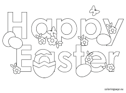 Free Easter Coloring Pages Printable Plrappco