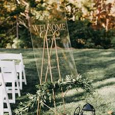 Unique Acrylic Seating Chart Sign Wedding Welcome Menu