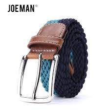 strong elastic casual belt waistband braided men s fabric leather elastic woven stretch belt 1 3 8 wide 95 to 150 cm