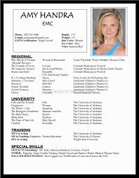 Musical Theatre Resume Example Children Musical Theatre Resume Resume Template 100 77