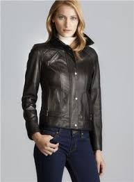 Free shipping and returns on Cole Haan Quilt Detail Lambskin ... & Cole Haan Stand Up Collar Quilted Leather Jacket (Cole Haan 665124500),  Women's Outerwear Adamdwight.com