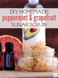 all natural homemade gfruit and peppermint sugar scrub recipe