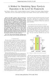 Pdf A Method For Simulating Spray Pyrolysis Deposition In