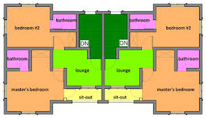 Beautiful Residential Building Designs Two Bedroom Semi Detached One Storey
