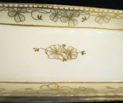 Nippon Patterns 1911 To 1921 Amazing Nippon Moriage Celery Dish Hand Painted Floral Porcelain Relish Tray