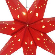 Led Weihnachtsstern Papier Rot D 70 Cm Redstar