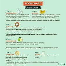 Baby Boy Diet Chart Diet Chart For 7 Month Baby Boy