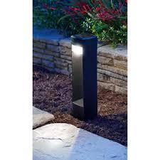 Moonrays Grand Bollard Solar Powered LED Black Path Light Pack - Exterior bollard lighting