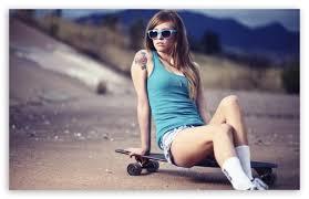 girl skateboards wallpaper hd.  Skateboards Skater Girl HD Desktop Wallpaper High Definition Fullscreen 510x330 In Skateboards Wallpaper Hd
