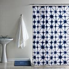 blue ikat shower curtain