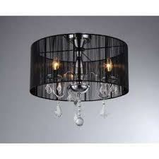 victoria 3 light chrome crystal chandelier with shade