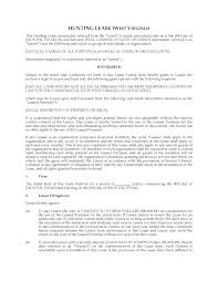 Simple Lease Agreement Template Hunting Forms Georgia Free – Poquet