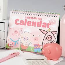 standup desk calendars 2019 hello pig stand up desk calendar