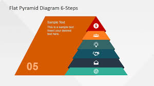 Pyramid Powerpoint 6 Steps Flat Pyramid Powerpoint Diagram Slidemodel
