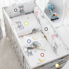 Gray baby furniture Delta Cotton Cartoon Soft Baby Bedding Sets Gray Elephant Baby Crib Bumper Include Pillow Bumpers Sheetquilt Cover Baby Bumpers Kmart Cotton Cartoon Soft Baby Bedding Sets Gray Elephant Baby Crib Bumper