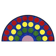 lots of dots semi circle rug joy carpets 1430hr within half rugs design 6
