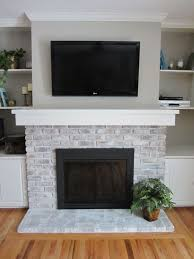 farmhouse brick fireplace awesome modern rustic painted brick fireplaces ideas 66