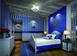 ... Bedroom Decoration | : Country Style Boys Blue Bedroom With Wooden  Plafond Also Wooden Bed Frame ...