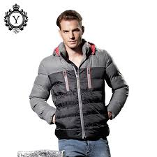 COUTUD Men's Clothing Winter Down Jacket Coats Western Stylish ... & COUTUD Men's Clothing Winter Down Jacket Coats Western Stylish Windproof  Nylon Quilted Men Jackets Hooded Down Adamdwight.com
