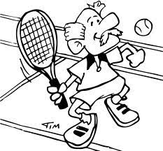 Coloring Pages Tennis Animated Images Gifs Pictures