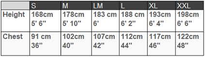 Peak Uk Size Chart Wetsuits For Canoeing Kayaking
