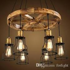 vintage chandelier table lamp pendant lights creative wooden lamps personalized