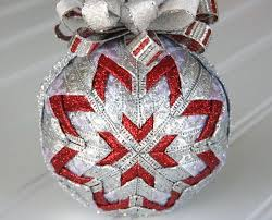 801 best images about Deco de Noel on Pinterest | Handmade ... & Red and Silver Quilted Christmas Ornament - Holiday Glamour Adamdwight.com