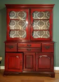 painted red furniture. Incredible Red China Cabinet With Regard To Spray Painted Vintage Temple Stuart Monnie Like Prepare 5 Furniture
