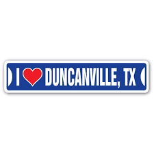 I Love Duncanville Texas Street Sign Tx City State Us Wall Road