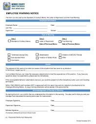 Employee Warning Notices 10 Employee Warning Letters Free Word Pdf Excel Format