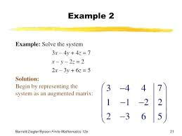 augmented matrix maths definition chapter 4 systems of linear equations matrices solve mathematica mathcad