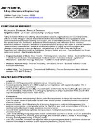 Sample Resume Mechanical Engineer Junior Mechanical Engineer Sample Resume ajrhinestonejewelry 70
