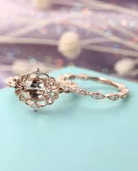 antique wedding ring set. morganite wedding sets antique ring set