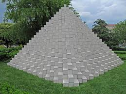 Four Sided Roof Design Four Sided Pyramid Sol Lewitt 1965 Sculpture Structure