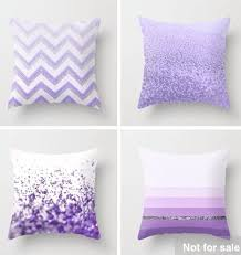 Purple Decorative Pillows For Bed