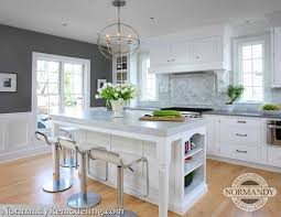 paper white paint colorKitchen with Gray Paint Color  Contemporary  kitchen  Benjamin