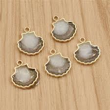 alloy cameo shell charms pendant