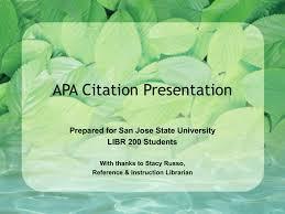 Power Point Presentation On Apa Style