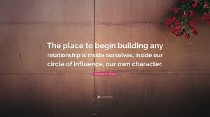 "Positive Relationship Quotes Unique Stephen R Covey Quote ""The Place To Begin Building Any"