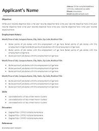 A Simple Resume Example Basic Resume Templates Free Download A ...