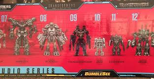 Transformers G1 Scale Chart Transformers Movie Studio Series Chart Shows Full Lineup Of