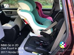 if you need car seats in 2d and 2c we d suggest the immi go in 2d rear facing foonf in 2c or the diono radian forward facing in 2d chicco fit2 in 2c