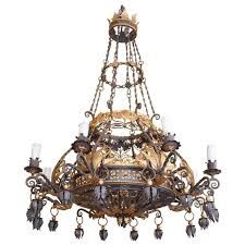large beautiful and decorative iron chandelier eight arms for