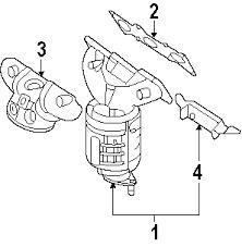 parts com® kia sedona exhaust components oem parts diagrams 2006 kia sedona ex v6 3 8 liter gas exhaust components