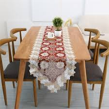 water lily embroidery table runner transpa organdy lace table runners 40x200cm