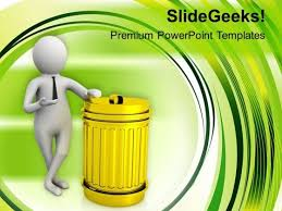 Process Of Recycling The Waste Materials Powerpoint