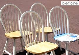 how to paint a wood chair but not the chair seat
